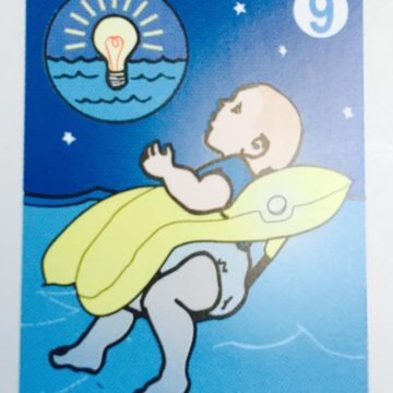 As foretold in the book of Boeing, the child Savior would come to them in a life jacket